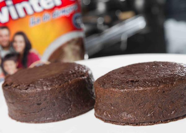 Avena con chocolate al horno