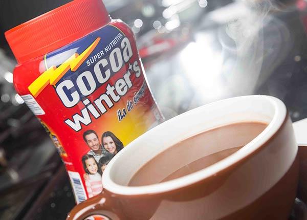 Cocoa caliente con leche de coco